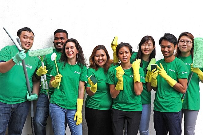 Cleaning Startup - Helpling
