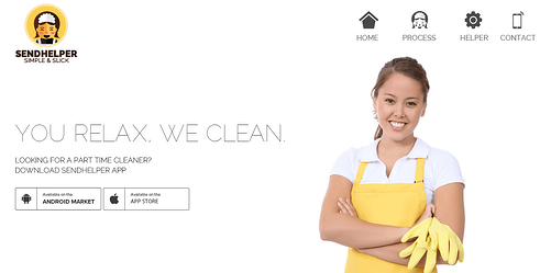Cleaning Startup - Sendhelper