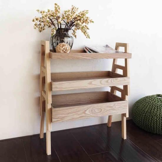Organizing Tips - 3-tier Wooden Shelf