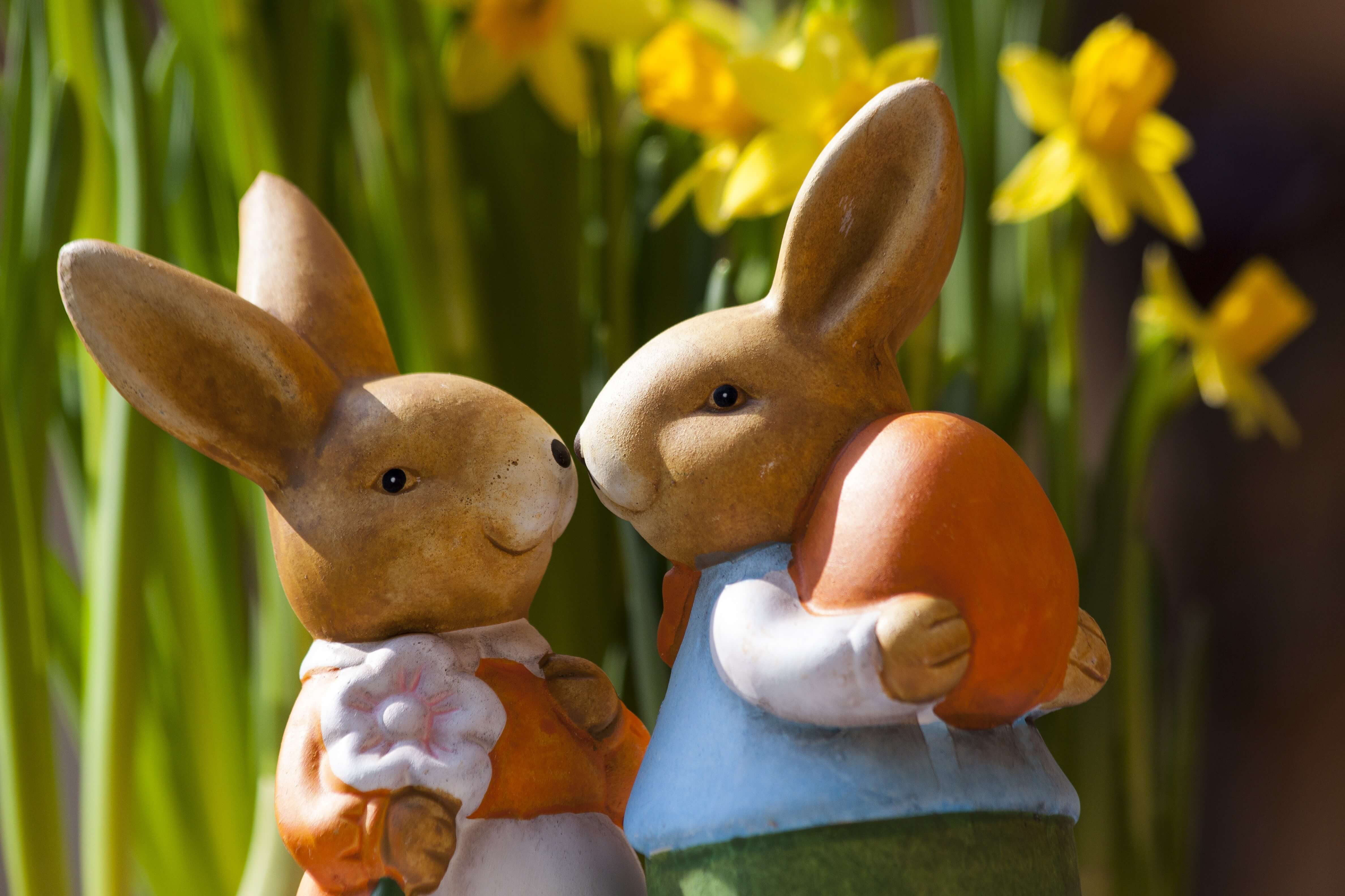 Easter activity with kids - rabbit bunny couple