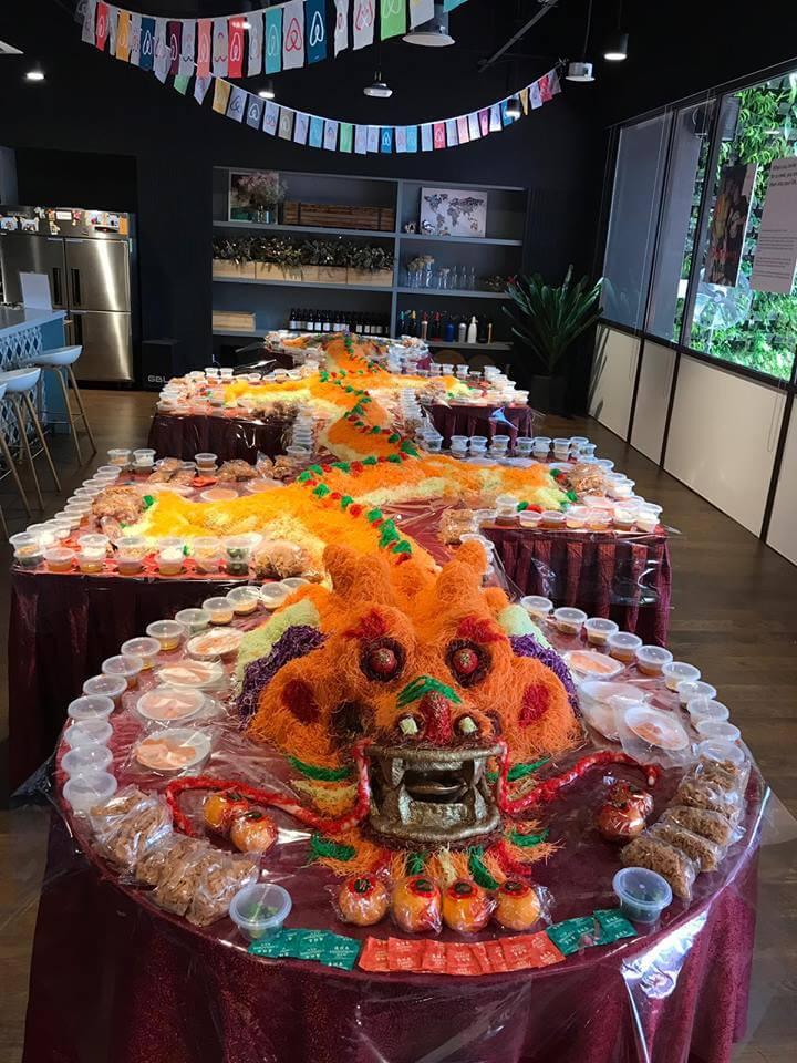 Catering Service Singapore - Orange Clove Yu Sheng