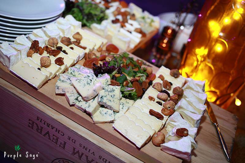 Catering Service Singapore - Purple Sage Cheese