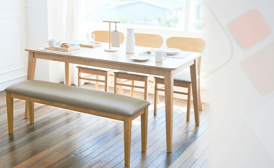 GSS - Scandinavian 6 Seater Dining Set