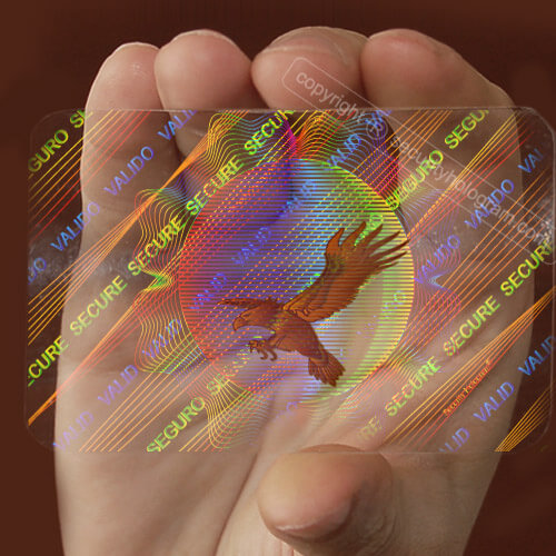 Printing company singapore - visa card hologram sticker