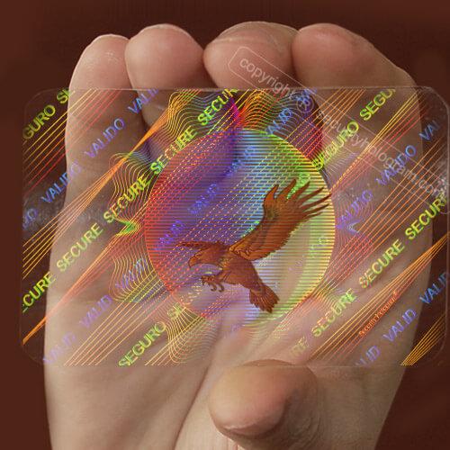 Printing company singapore - visa card hologram sticker