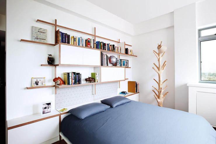 Storage Space in Interior Design - Bed headboard