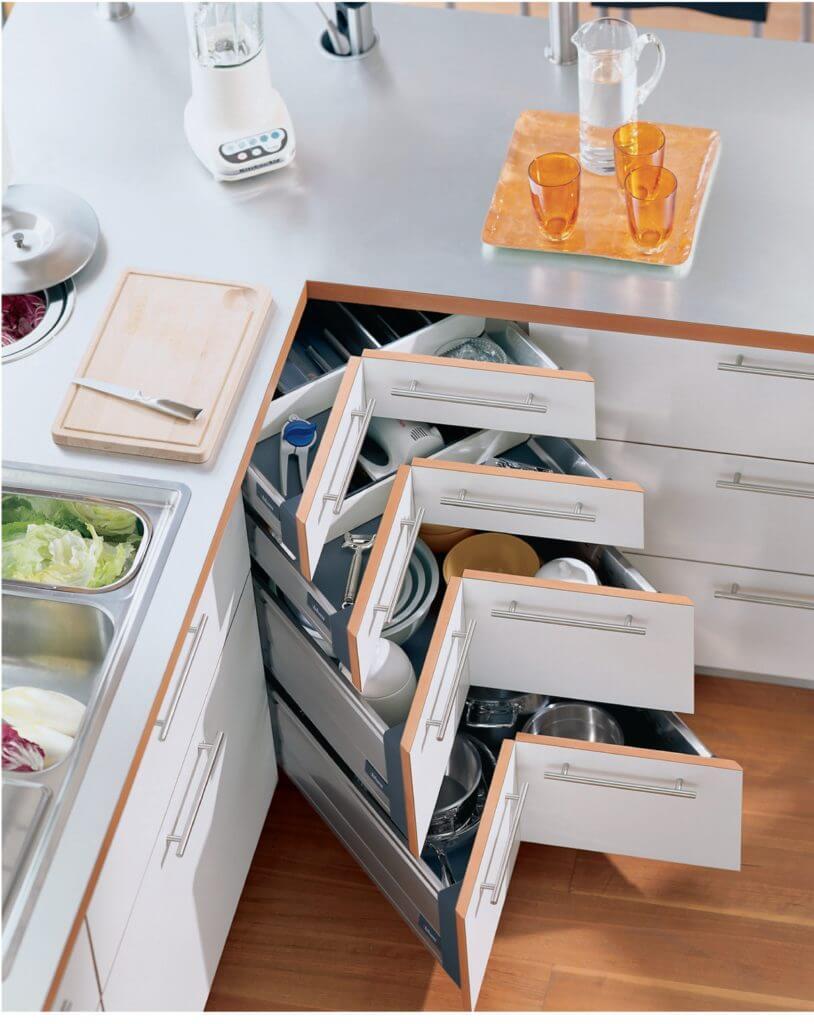 Storage Space in Interior Design - Corner drawer