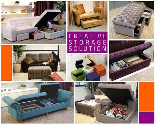 Storage Space in Interior Design - Storage under sofa