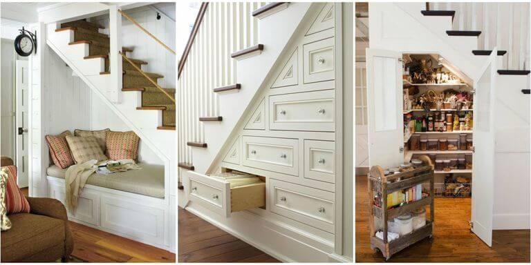 Storage Space in Interior Design - Storage under staircase-1