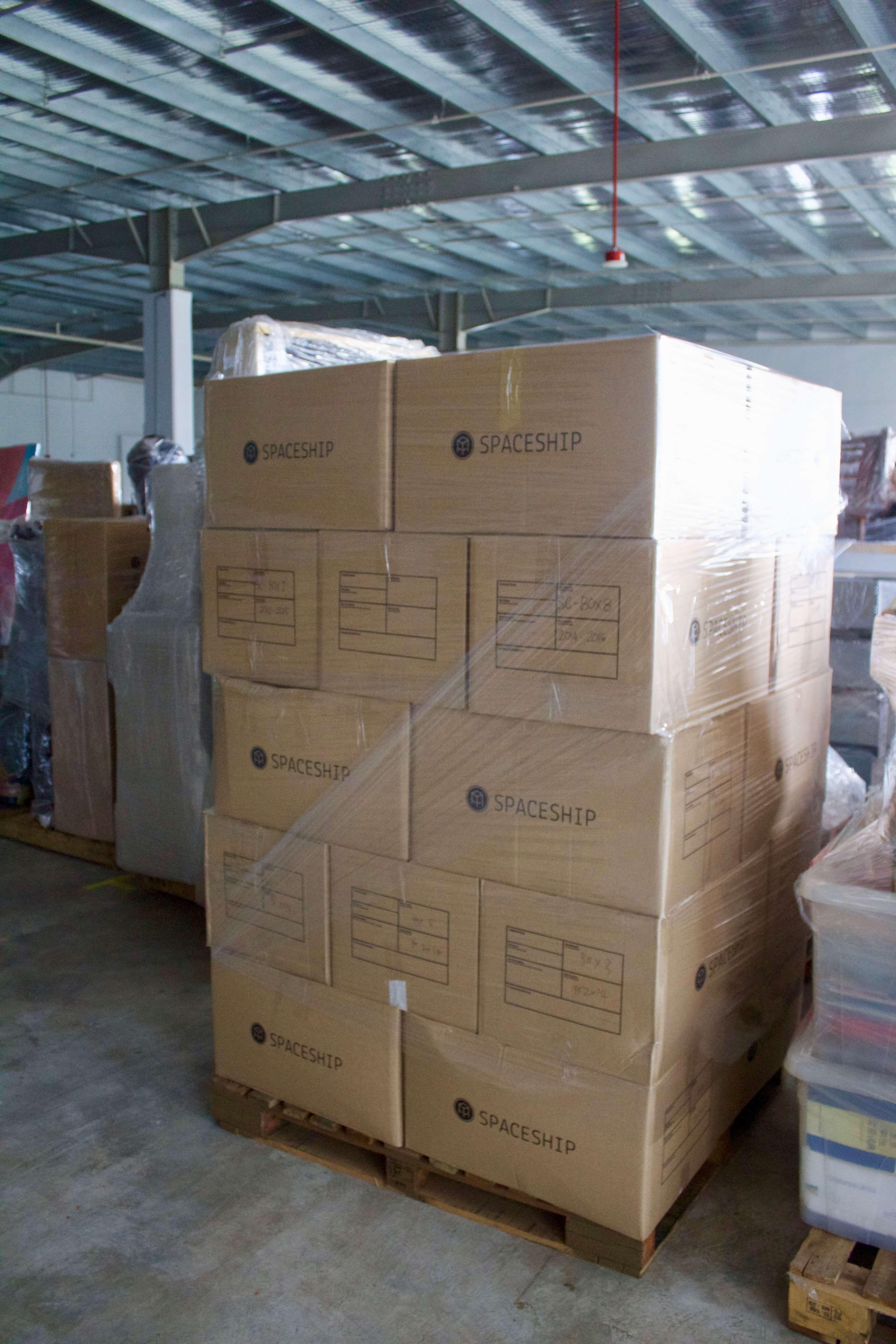Spaceship box storage - 15 sq feet