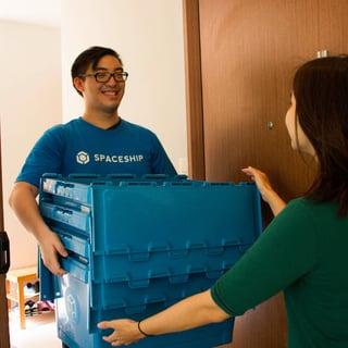 spaceship box storage delivery