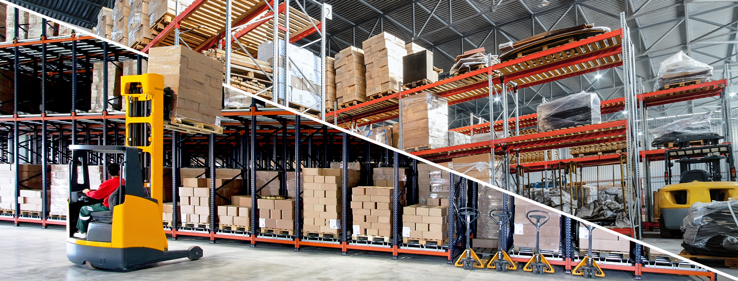 traditional warehouse and an omnichannel warehouse