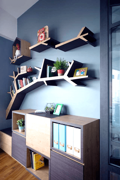 Storage Space in Interior Design - Wall-mounted shelves 2