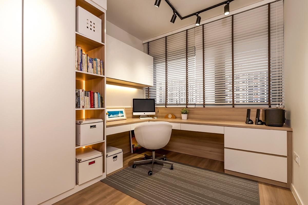 Icon Interior Design Lakefront Residence Condo Study Room 14