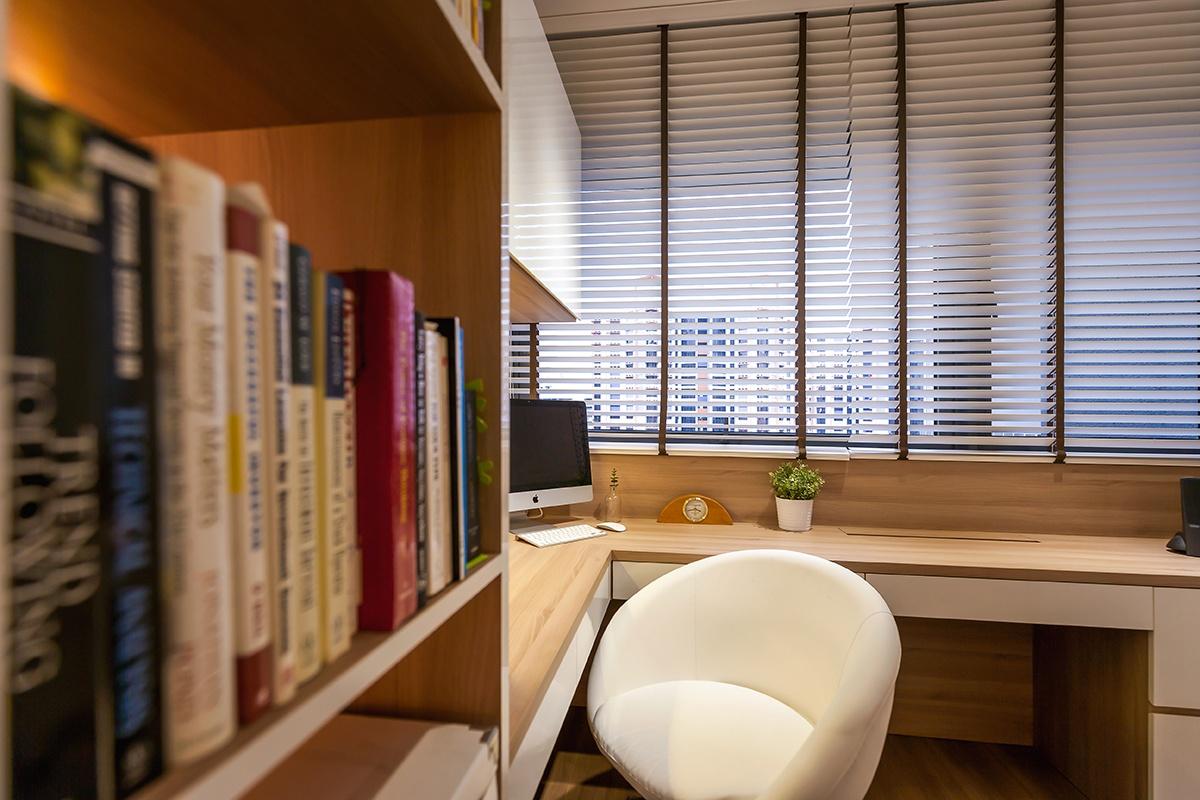 Icon Interior Design Lakefront Residence Condo Study Room 18